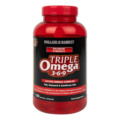 Holland & Barrett Maximum Strength Triple Omega 369 120 Capsules