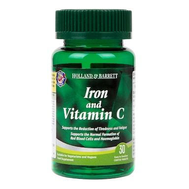 Holland & Barrett Iron & Vitamin C 30 Tablets