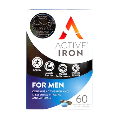 Active Iron for Men 60 Capsules