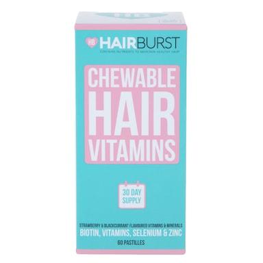 Hairburst Heart Hair Vitamins 60 Chewables 1 Month Supply