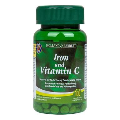 Holland & Barrett Iron & Vitamin C 100 Tablets