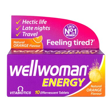 Vitabiotics Wellwoman Energy Orange 10 Effervescent Tablets