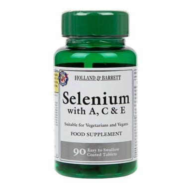 Holland & Barrett Selenium with A C & E 90 Tablets