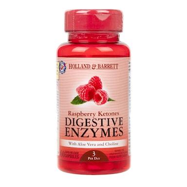 Holland & Barrett Raspberry Ketones Digestive Enzymes 60 Capsules