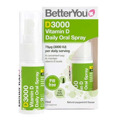 BetterYou D3000 Vitamin D Daily Oral Spray 15ml