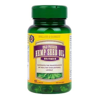 Holland & Barrett Hemp Seed Oil 60 Capsules 297mg