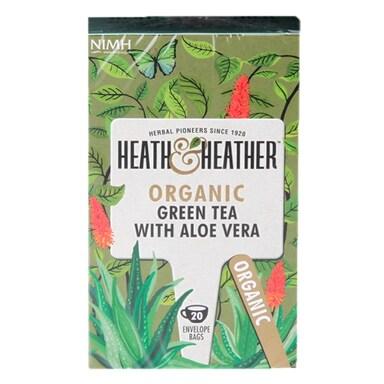 Heath & Heather Organic Green Tea & Aloe Vera 20 Tea Bags
