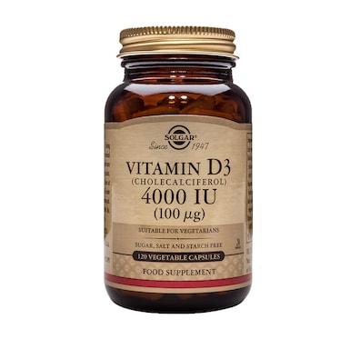 Solgar Vitamin D3 4000IU 120 Vegetable Capsules