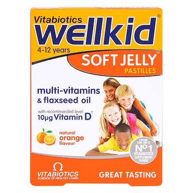 Vitabiotics Wellkid Soft Jelly Pastilles Orange 30 Chews