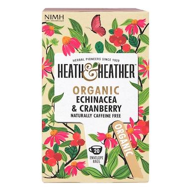 Heath & Heather Organic Echinacea & Cranberry 20 Tea Bags