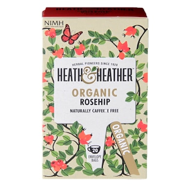 Heath & Heather Organic Rosehip 20 Tea Bags