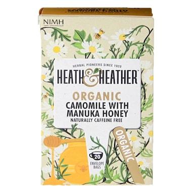Heath & Heather Organic Camomile with Manuka Honey 20 Tea Bags