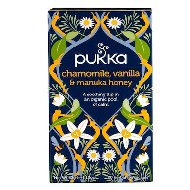 Pukka Chamomile, Vanilla & Manuka Honey Herbal Tea 20 Sachets