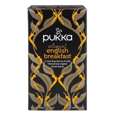Pukka Elegant English Breakfast Tea 20 Tea Sachets