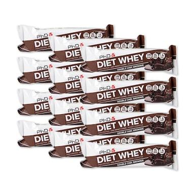 PhD Diet Whey Bar Double Chocolate 12 x 65g