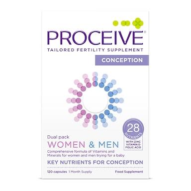 Proceive Women & Men Dual Pack Advanced Fertility Supplement 60 Capsules