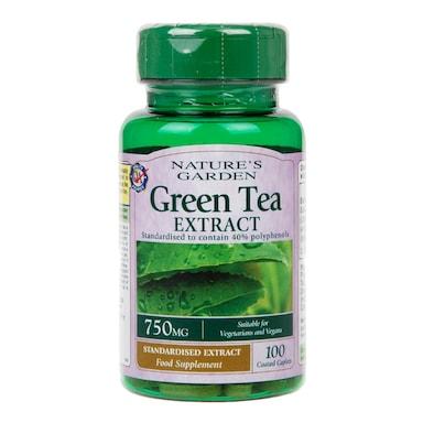 Natures Garden Green Tea Extract 100 Caplets 750mg