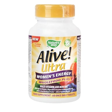 Nature's Way Alive! Women's Ultra Energy Multi Vitamin & Energy 60 Tablets