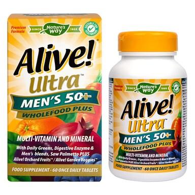 Nature's Way Alive! Men's 50+ Ultra Multi Vitamins 60 Tablets