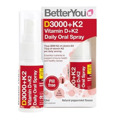 BetterYou Vitamin D + K2 Spray 12ml