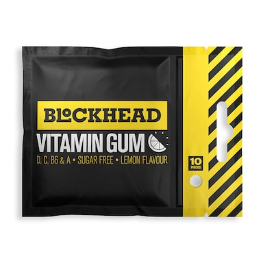Blockhead Vitamin Gum Lemon 10 Pieces