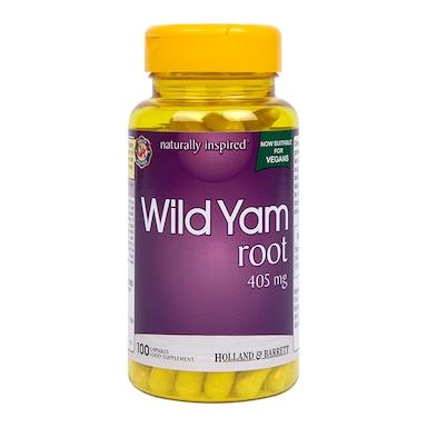 Holland & Barret Wild Yam Root 405mg 100 Capsules