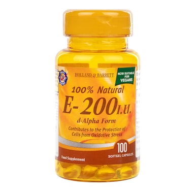 Holland & Barrett Vitamin E 200iu 100 Softgel Capsules