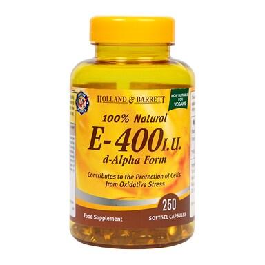 Holland & Barrett Vitamin E 400iu 250 Softgel Capsules