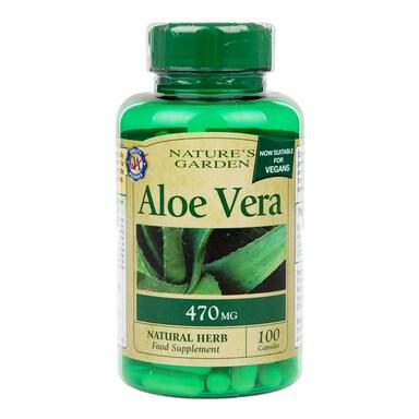 Nature's Garden Aloe Vera 100 Capsules 470mg