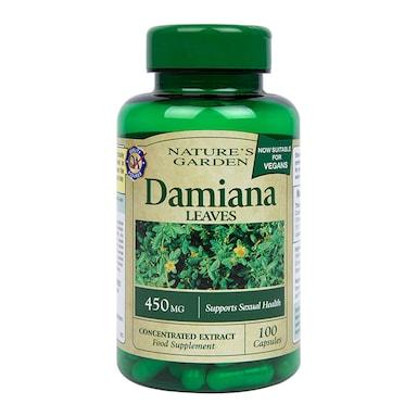 Nature's Garden Damiana Leaves Capsules 450mg 100 Capsules