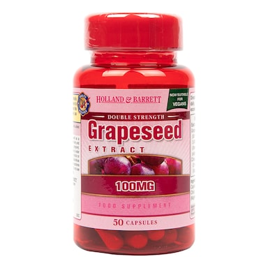 Holland & Barrett Double Strength Grapeseed Extract 100mg 50 Capsules