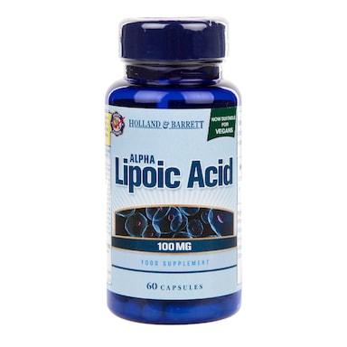 Holland & Barrett Alpha Lipoic Acid 100mg 60 Capsules