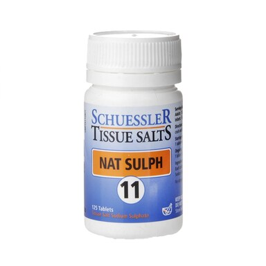 Schuessler Tissue Salts Nat Sulph 11 125 Tablets