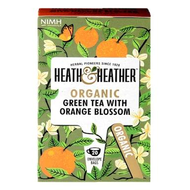 Heath & Heather Organic Green Tea with Orange Blossom 20 Tea Bags
