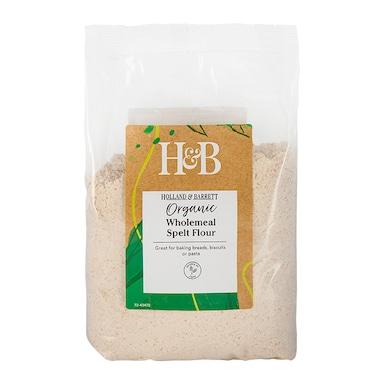 Holland & Barrett Organic Wholemeal Spelt Flour 500g