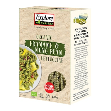 Explore Cuisine Organic Gluten Free Edamame & Mung Bean Fettuccine 200g