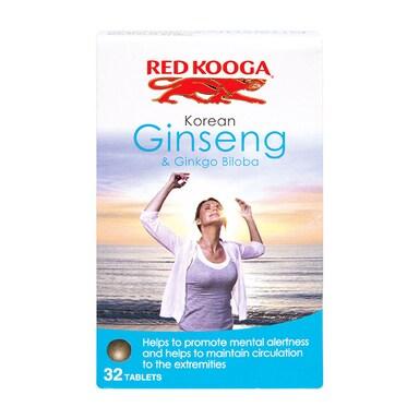 Red Kooga Korean Ginseng & Ginkgo Biloba 32 Tablets