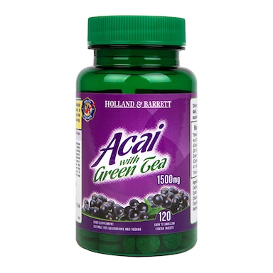 Holland & Barrett Acai with Green Tea 120 Tablets 1500mg