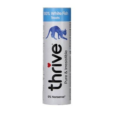 Thrive 100% White Fish Cat Treats 15g