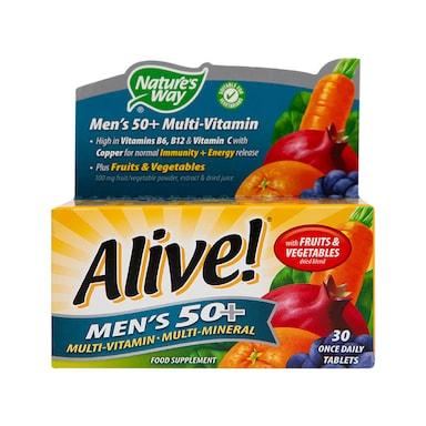 Nature's Way Alive! Men's 50+ Multi-Vitamin 30 Tablets