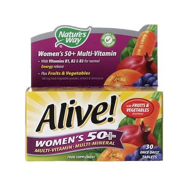 Nature's Way Alive! Women's 50+ Multi-Vitamin 30 Tablets