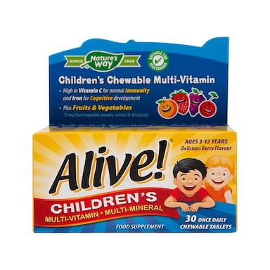 Nature's Way Alive! Children's Chewable Multi-Vitamin 30 Tablets