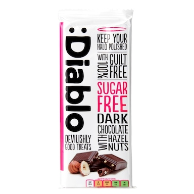 Diablo Sugar Free Dark Chocolate with Hazelnuts Bar 85g
