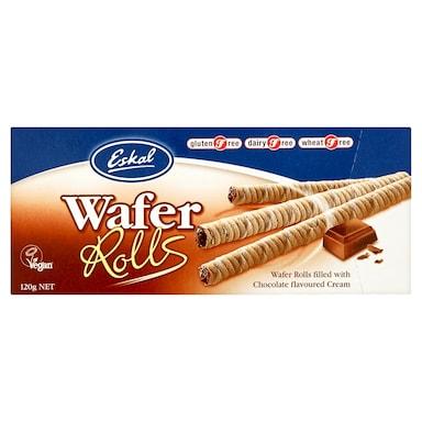 Eskal Gluten Free Wafer Rolls 120g