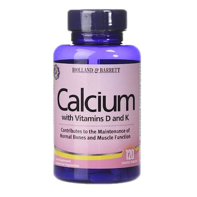 Holland & Barrett Calcium with Vitamins D and K 120 Tablets