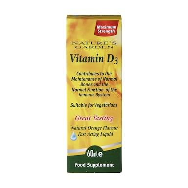Nature's Garden Fast Acting Liquid Vitamin D3 60ml