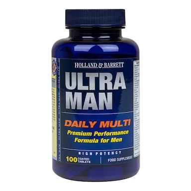 Holland & Barrett Ultra Man Multivitamin 100 Caplets