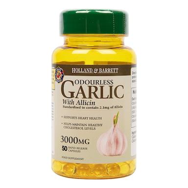 Holland & Barrett Odourless Garlic 50 Capsules 3000mg