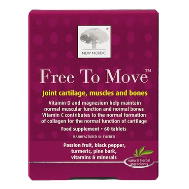 New Nordic Free to Move Joint Cartilage, Muscles & Bones 60 Tablets