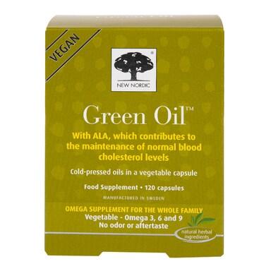 New Nordic Vegan Green Oil Omega Supplement 120 Capsules
